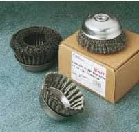 "Sait 4"" x .020 Wire x 5/8-11 Arbor Crimped Wire Large Cup Brush"