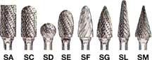 "Sait 1/4"" x 5/8"" Type SA1 Double Cut Tungsten Carbide Bur"