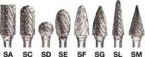 "Sait 1/4"" x 7/32"" x 6"" Long Type SD1L6 Double Cut Tungsten Carbide Bur"