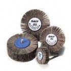"1-1/2""x1/2"" Straight 1/4"" Mandrel 180G A/O Flap Wheels (10 Wheels)"