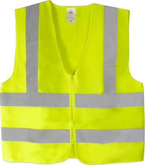 Class 2 Green Mesh Safety Vest w/ Silver Reflective Stripe (X-Large)