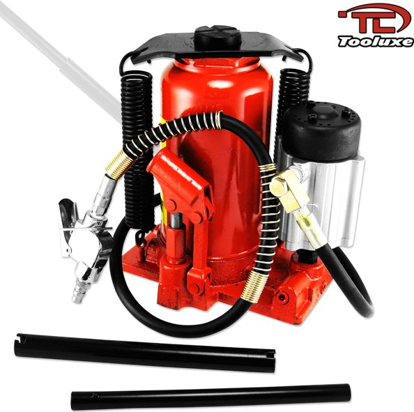 20-Ton Air/Manual Hydraulic Bottle Jack